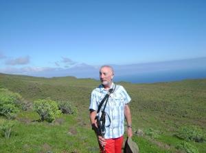 La Gomera: Teide in the background.