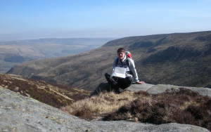 My niece Jenny on a solo walk in the Peak District UK